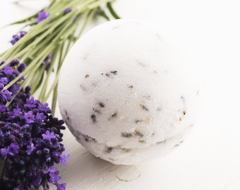 Lavender Bud Bath Bomb   Natural Beauty Products   Lavender Bomb Fizzy   Floral Bath Bomb   Natural Bath Products   Handmade Gifts for Her