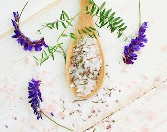 Organic Lavender & Eucalyptus Bath Salt   Detoxifying Bath Salts with Lavender Buds   Aromatherapy Epsom Salt Bath   Natural Bath Products