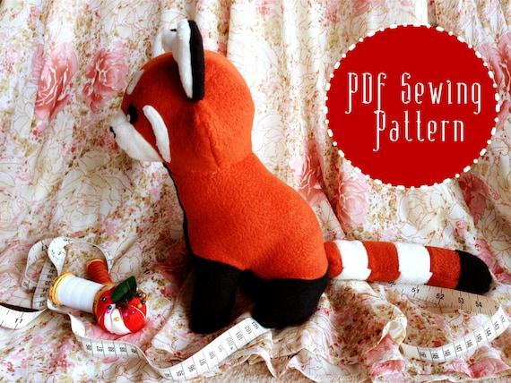 Roter Panda Plüsch Plüsch Muster gefüllt Tier Nähen PDF