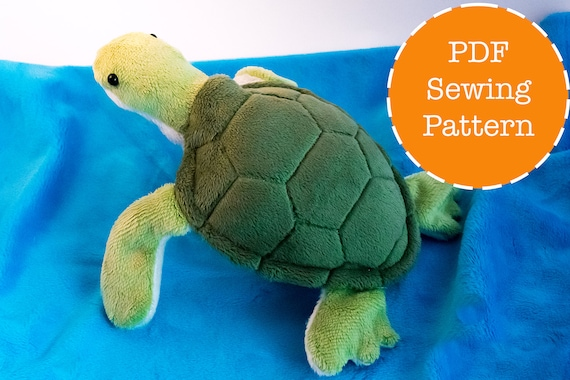 Sea Turtle Plush Pattern Stuffed Animal Sewing Pdf Etsy