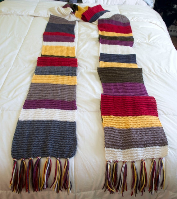 Doctor Who Scarf 4th Doctor 14th Season Hand Knit Etsy