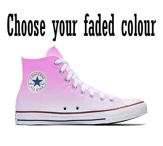 Custom Faded Color Converse Shoes
