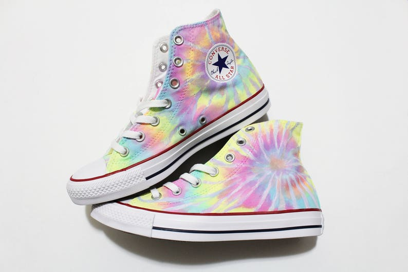 d5696bf01bc9 Tie Dye Converse Shoes Neon Pastel Colors Can be