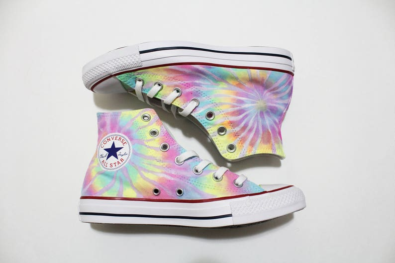 d08da1dadc17 Tie Dye Converse Shoes Neon Pastel Colors Can be