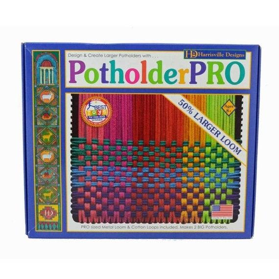 1//3 POUND BAG NYLON POTHOLDER LOOPS /& FREE PATTERNS NEON COLORS KIDS CRAFTS