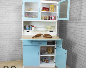 NOT FOR SALE, Possible Commission : original vintage retro kitchenette larder cabinet cupboard very good restored condition 1950s 1960s