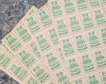 150 Top Value saving stamps 6 sheets of 25 vintage trading stamps paper ephemera