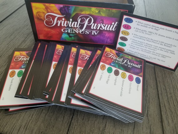 TRIVIAL PURSUIT BABY BOOMER EDITION CARDS  ~ travel// party// wedding favors //quiz