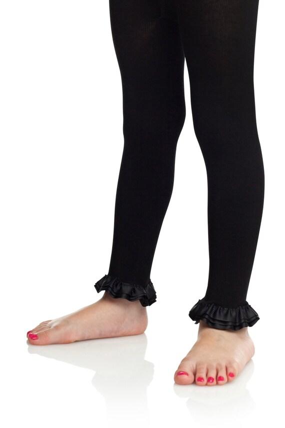 0cc0e9bfd033e Footless tights baby girl ruffle leggings girls ruffle   Etsy