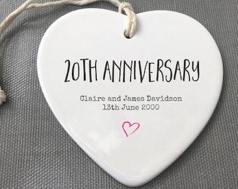 Personalised 20th Anniversary ceramic Keepsake, 20th Anniversary gift, Personalised 20th Anniversary, China Anniversary, 20th Anniversary