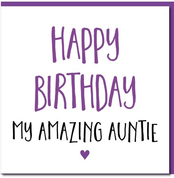 Birthday Card Female Funny Auntie Happy Birthday Amazing Etsy