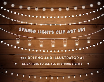 String Lights Clipart Fairy Party