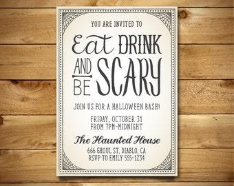 diy halloween invite etsy