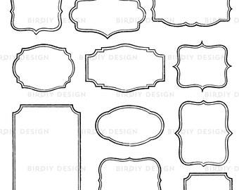 Rustic Frames Clipart Bundle