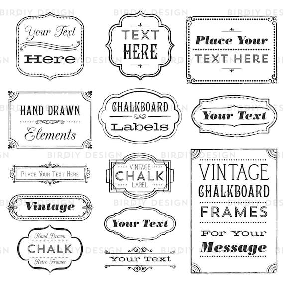 Rustic Frames Clipart Boho Vintage