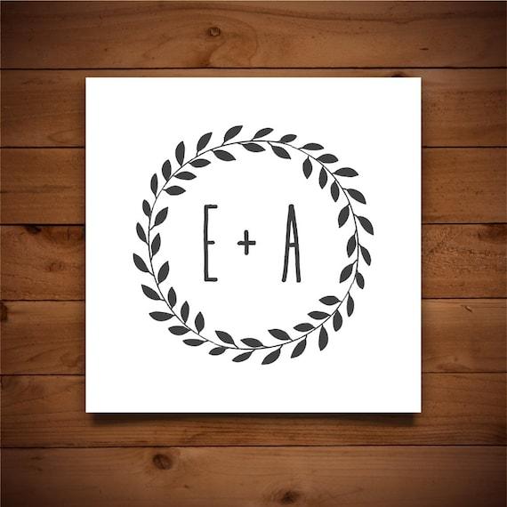 Hochzeit Monogramm Vorlage druckbare Hochzeits-Monogramm