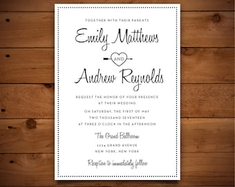Wedding Invitation Template - Printable Wedding Invitation - Editable Wedding Template - Instant Download