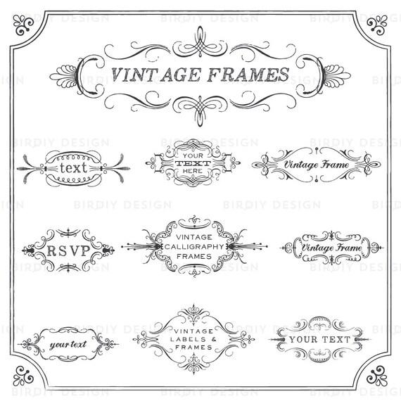 Rustic Frames Clipart Wedding Frame