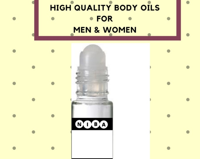 Top-Quality Designers Inspired Pure Perfumed Body Oil, Fragrance Oil, 10 ML, Roll-On bottle