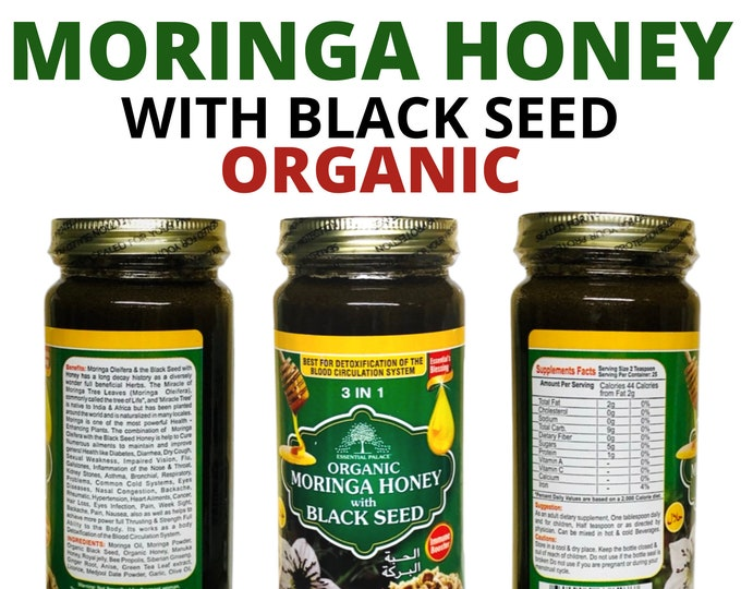 ORGANIC MORINGA Honey With Black Seed by Essential Palace