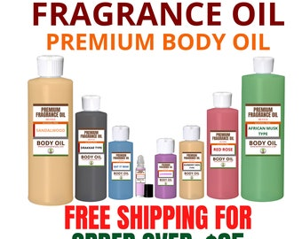Premium Perfumed Alcohol-Free Scented Fragrance Body Oils