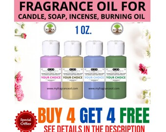 1 oz. Fragrance Candle oil for Oil Burner Incense Stick Lotions Cream Soaps Strong Perfumed Scented Oil