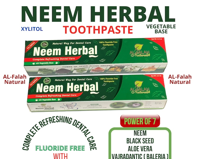 NEEM HERBAL Toothpaste, Vegetable Base with Xylitol for Complete Dental care and Strong Teeth