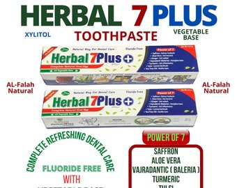 HERBAL 7 PLUS Toothpaste, Vegetable Base with Xylitol for Complete Dental care and Strong Teeth