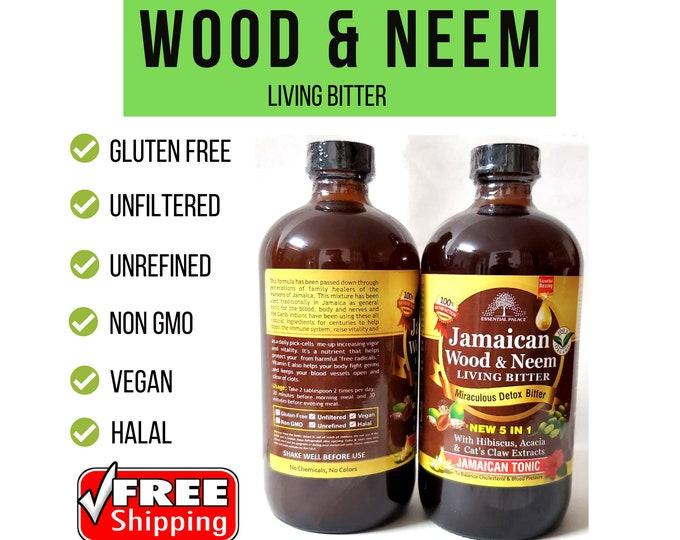 Organic JAMAICAN WOOD & NEEM Living Bitter, Essential Palace Miraculous Detox