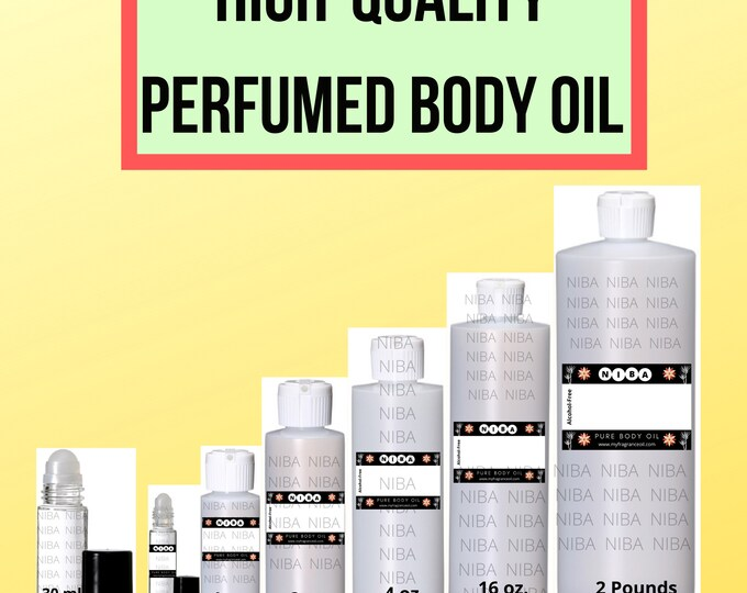 Premium Perfumed Scented Fragrance Body Oil Best Selling