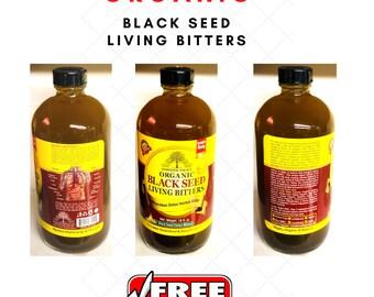 Organic Black Seed Living Bitters, Miraculous Detox herbal Tonic, 8 oz or 16 oz.