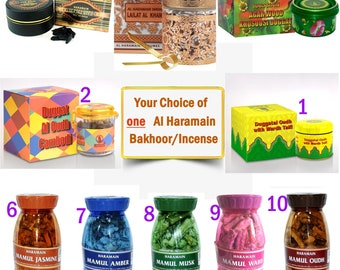 Your Choice of 1(one) AL-HARAMAIN  Incense, Bakhoor,  Bukhoor