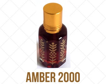 AMBER 2000, Arabian Attar Oil, Itr, Fragrance Oil Concentrated Fragrance Oil, Oudh and Spices 3ml or 12ml