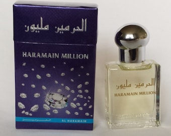 1 - Al Haramain - Million, Makkah, Musk, Madina, Khaltath, Oudi Non-Alcoholic Attar, Itr, Perfume, Fragrance Oil 15 Ml with Roll-on