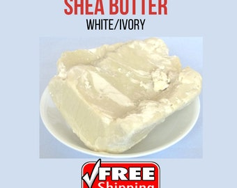 Shea Butter Natural Pure Raw Premium Quality  Unrefined From Ghana YELLOW or WHITE/IVORY
