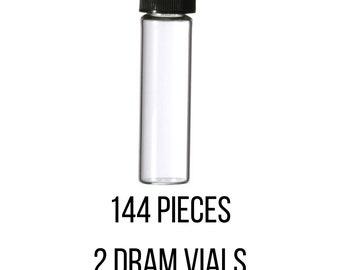2 Dram, Empty Perfume Sample Glass Vials Bottles, fragrance Sampler Vial/Bottles 144 Pieces