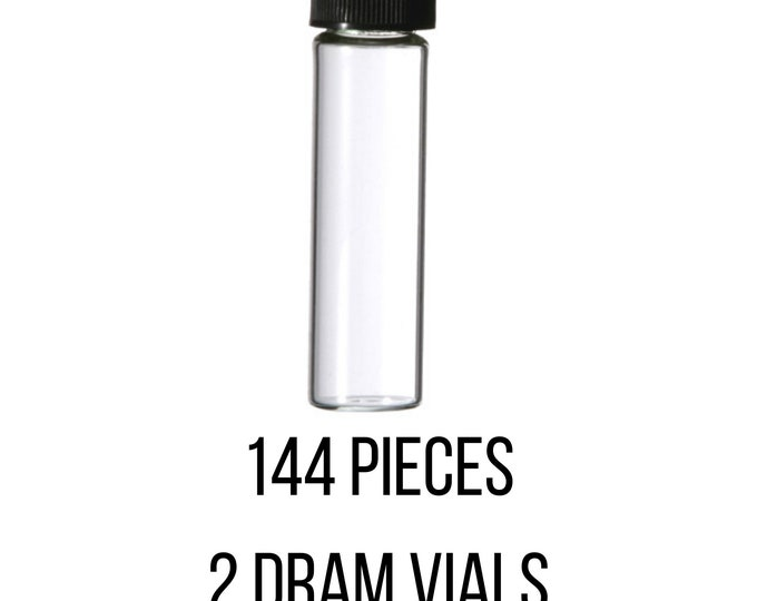 2 Dram, Empty Perfume Sample Glass Vials Bottles, fragrance Sampler Vial/Bottles 144 Pieces