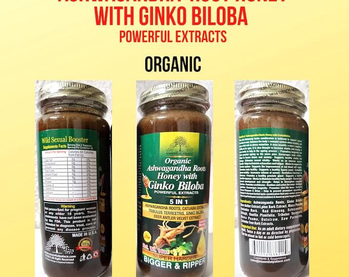 Organic Ashwagandha Roots Honey with Ginkgo Biloba, Essential Palace Increasing Sexual Performance
