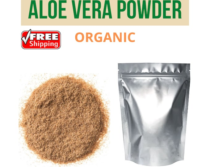 Aloe Vera Powder Aloes (Liliaceae) Pure and Natural