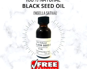 Black Seed Oil (Nigella Sativa), Pure and Natural, Black Cumin Seed Cold Pressed