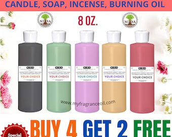 8 oz. Fragrance Candle oil, Oil Burner Incense Stick Lotions Cream Soaps Strong Perfumed Scented Oil