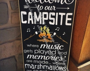 Camp Sign Etsy