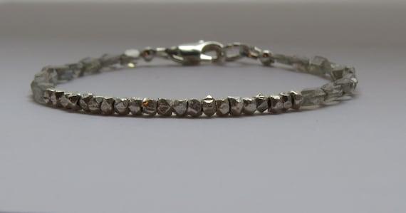 Tourmaline and Moss agate braceletwoodland bracelet rustic braceletcharm bracelettourmaline braceletmoss agate braceletsilver bracelet