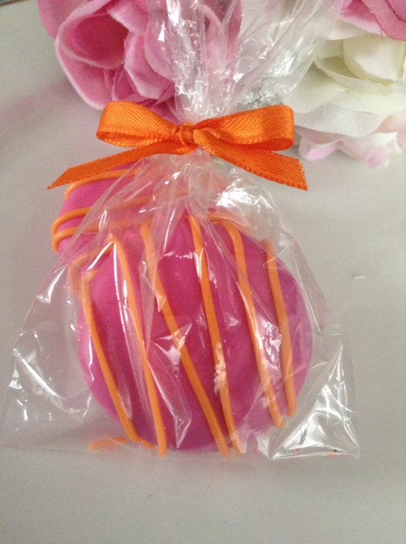 Hot Pink And Orange Baby Shower Favors Chocolate Covered Oreos Etsy