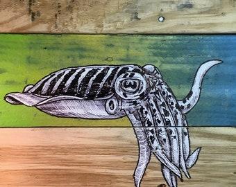 "Cuttlefish 2""x2"" Magnet - wildlife woods ocean sea"
