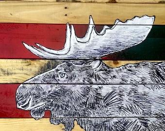 "Swamp Donkey 2""x2"" Magnet - wildlife woods moose forest"