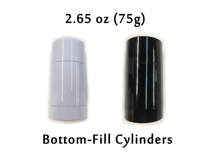 Empty Plastic Deodorant Containers - Twist-up, Reusable, Recyclable, DIY  Empty Deodorant Tubes, Bottom-fill 2 65 OZ (Black or White)