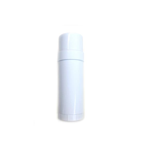 24 ct  Empty Deodorant Container - White Top Fill Cylinder - Twist Up 2oz  Deodorant Tube - DIY Health Beauty Container - BPA Free Plastic