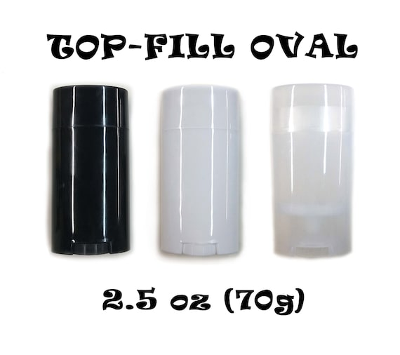 Empty Deodorant Containers - Twist-up, Recyclable, Reusable, DIY Empty  Deodorant OVAL Tubes, TOP-Fill 2 5 Oz