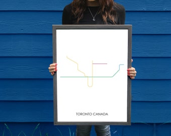 Toronto Subway Map Poster.Toronto Subway Etsy